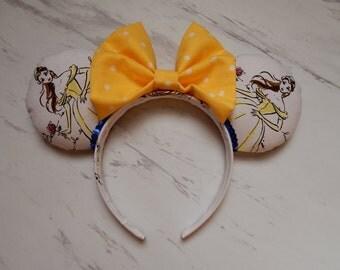 Belle Minnie Ears Beauty and the Beast Minnie Ears