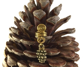 Pinecone dreadlock bead, pinecone dread bead, pinecone dreadlock accessories