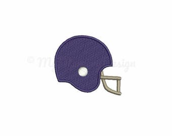 Football helmet embroidery design - Mini embroidery - Machine embroidery - Digital File - Instant download - pes hus jef vip vp3 xxx dst exp
