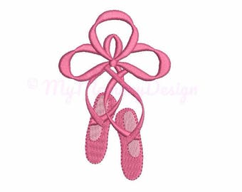 Ballet shoes embroidery design - Mini embroidery - Machine embroidery - Digital File - Instant download - pes hus jef vip vp3 xxx dst exp