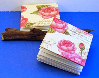 Book. Flower Book with Rose Covers. Folded Pages Book. Blank Explosion book with romantic covers.