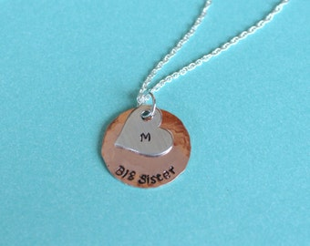 Big Sister Necklace Gift for New Sister Big Sister Jewelry Sister Necklace
