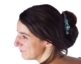 Blue sky hair pins for banana buns Hair accessory Hairpins Banana hair clip Wedding Ceremony