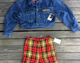Medium  Guess cropped Avis wash denim jacket