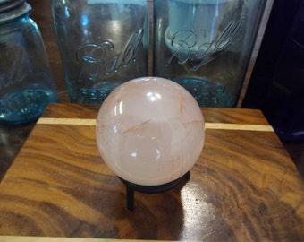 Large Agnitite Fire Quartz Sphere from Madagascar | 63mm Polished Crystal Ball | Healing Crystal | Mineral Specimen #139