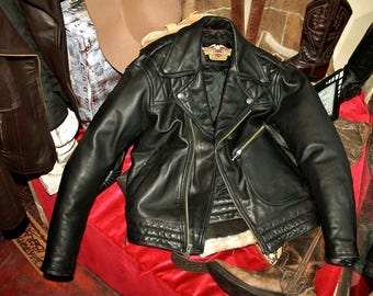 HARLEY DAVIDSON motorcycle leather jacket ORIGINAL tack coat sz M