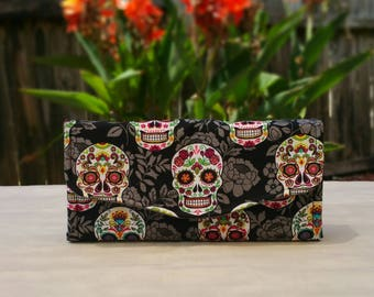 Sugar Skulls Phone Clutch Wallet