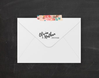 Printable Return Address Label Sticker | Calligraphy Return Address Label | Custom Envelope Labels | Wedding Return Address | Wedding Labels