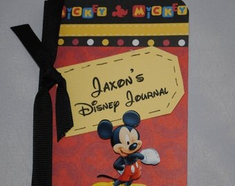 Mickey Mouse Personalized Mini Altered Composition Disney Journal