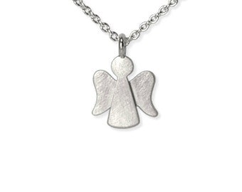 sweet christening gift, silver guardian angel necklace made of 925 Silver