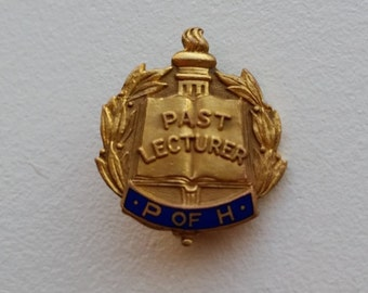 Gold Tone Past Lecturer Pin
