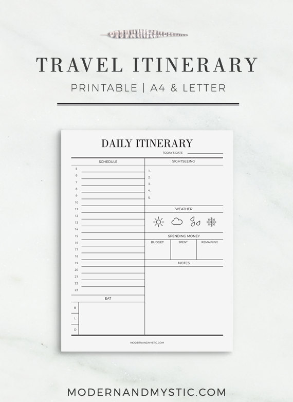 Exhilarating image inside printable itinerary