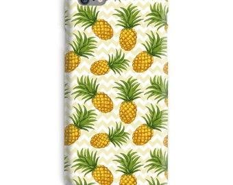 Pineapple iPhone Case, Yellow iphone case, Green iphone 6 case, Chevron iphone 6 case, Pineapple iphone 6s case, Fruits iphone case