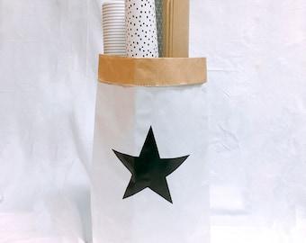 Star small storage paper bag,paper storage bag,paper bag,toy storage bag,cute storage bag,clothes storage bag,storage,organize