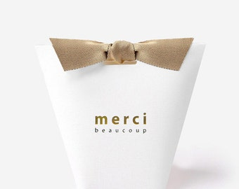3 White small gift boxes with ribbon,unique gift box,merci,mini gift box,small favor box,accessory gift box,small wedding favor box