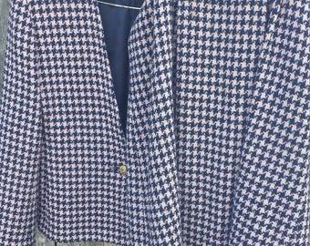 Pink and blue Women's Blazer and Skirt Suit/Koret/womens suit/90s suit/vintage suit/office attire