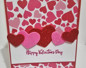 1 Million Hearts Valentines Card, Valentines Day Card, Handmade Greeting Card