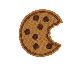 Cookie Patch Sew On / Iron On DIY Patch Embroidered Applique 5x5.2cm - RP552
