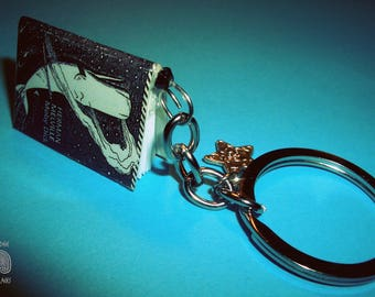 Literary-themed Keychain, miniature book * Moby Dick *