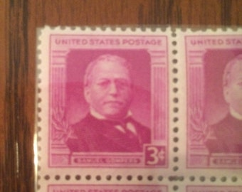 1950 Samuel Gompers Block of 4 Stamps