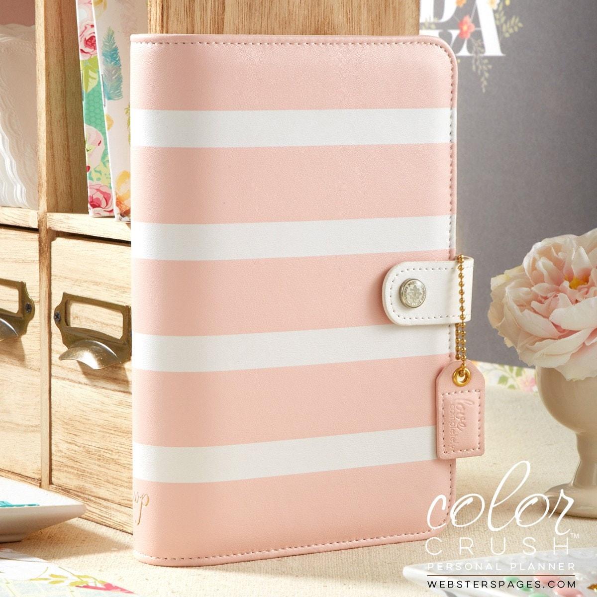 PERSONAL PLANNER KIT Blush Stripe Personal Binder Kit Weekly