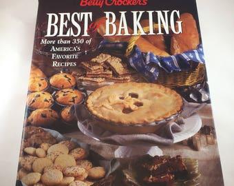 Betty Crocker Cookbook - Best of Baking - 1990s Cookbook - Vintage Kitchen - Recipe Book - Baking Cookbook - Pie Cookbook - Cookie Cookbook