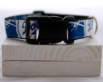 Los Angeles Dodgers Baseball Dog Collar
