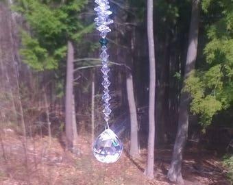 "Melody 30 mm Crystal Ball Suncatcher, Swarovski Crystal, Window Crystal, Suncatcher, Hanging Crystal, Feng Shui, Prism, Rainbow, ""Melody"""