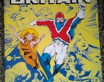Captain Britain trade paper back//1988//2nd printing//vintage marvel//vf/nm condition