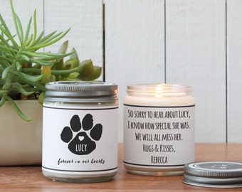 Forever in our Hearts Soy Candle | Loss of Pet Gift | Loss of Dog Gift | Loss of Cat Gift | Condolence Gift | Send a Gift | Pet Passing