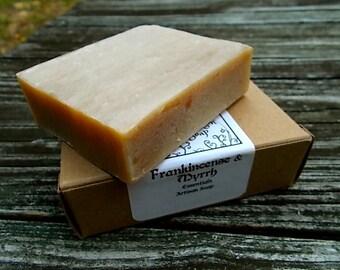Frankincense and Myrrh Soap, Organic, Artisan, Cold Process Soap, Essential Oil, All Natural, Vegan