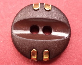 12 dark brown buttons 16mm (4043) button