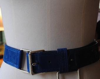 Leather belt painted blue Marc Jacobs