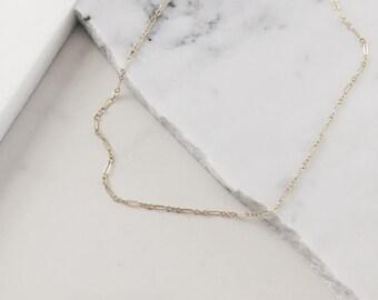 The Merrit Choker - Dainty gold layering choker - thin gold choker - gold necklace - gold choker for layering - dainty gold choker