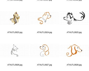 Style-Dogs ( 12 Machine Embroidery Designs from ATW )