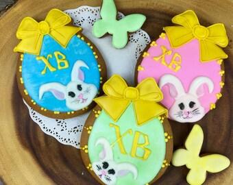 Russian Orthodox Easter cookies  - cute egg cookies with bunnies and bows / Пряники на пасху/ Заказать русские пряники в Америке