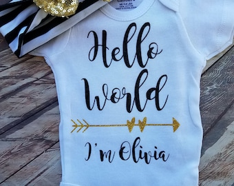 Personalized Hello World Onesie