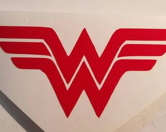 Wonder Woman Decal - permanent vinyl - perfect for Yeti & Rtic cups, coolers, car windows, wine glasses, laptops etc. Decal only.