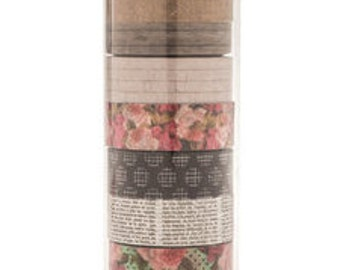 Floral Washi Tape TubeTube Perfect for Scrapbooks, Cards, Gift Packaging, Labels, Calendars, and so much more.