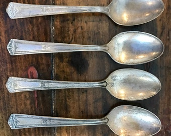 Winfield Silverplate 1920s silver spoons- set of 4