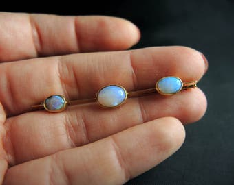 PIN Barrette old 18kt gold and Opal - nineteenth century / / / ancient 18kt gold pin brooch with opals - 19th Century