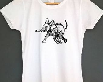 Elephant Shirt Graphic tshirt animal t-shirt screen printed t shirt artwork top tee womens fashion womens clothing gifts instagram tshirt