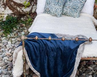 Navy Grey Blanket, Navy, Blanket, Faux Fur Blanket, Soft Blanket, Soft Fur Blanket, Fur Bedding, Fur Throw Blanket, Cozy Home, Gift for Mom