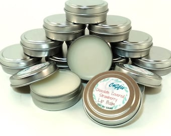 Chocolate Covered Strawberry Lip Balm - Unsweetened - Chemical, Dye, Preservative Free - Natural Lip Balm