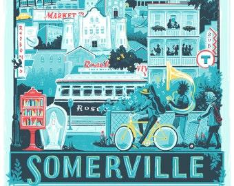 Somerville, MA • art print / poster / wall decor