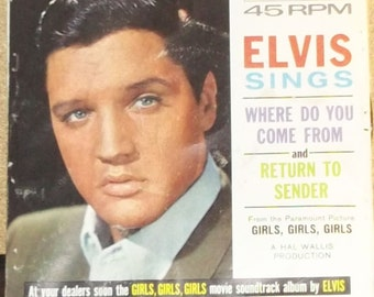 Elvis Presley Return To Sender b/w Where Do You Come From Vinyl 45rpm Picture Sleeve