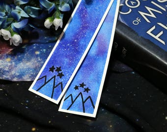 Night Court Watercolor Bookmarks