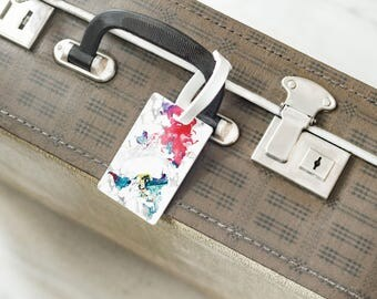 World Maps Luggage Tag Baggage Tag Travel Gift Colorful Map Luggage Ticket Luggage Label Personalized Luggage Tag Purse Tag Maps
