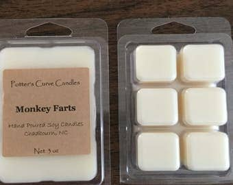 Monkey Farts Soy Wax Melts /Tarts/ Highly Scented/Handmade/Eco Friendly/Natural Soy Wax /No Dyes