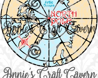 North Pole Map SVG
